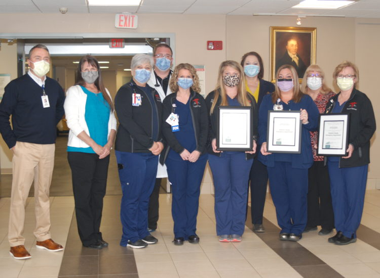 Associates from theEmergency Departments at all three of Ephraim McDowell's Hospitals smile for the camera after receiving their pediatric readiness recognition.