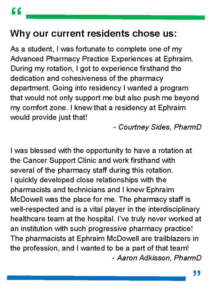 quotes from pharmacy residents
